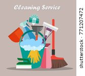 equipment cleaning service... | Shutterstock .eps vector #771207472