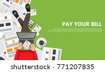bill payment design in flat... | Shutterstock .eps vector #771207835