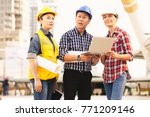 engineers technology man and... | Shutterstock . vector #771209146