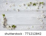 background with flowering... | Shutterstock . vector #771212842