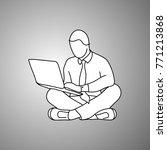 businessman using notebook... | Shutterstock .eps vector #771213868