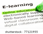 online education highlighted in ... | Shutterstock . vector #77121955