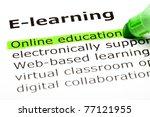 online education highlighted in ... | Shutterstock . vector #77121955