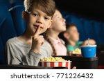 shot of an adorable little boy... | Shutterstock . vector #771226432