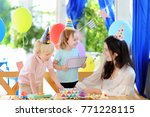 little child and their mother... | Shutterstock . vector #771228115
