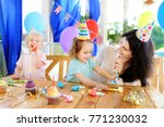 little child and their mother... | Shutterstock . vector #771230032