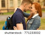young loving couple of college... | Shutterstock . vector #771233032