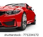 Crimson Red Modern Sport Racin...
