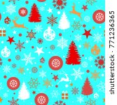 seamless christmas background... | Shutterstock .eps vector #771236365