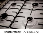 gas stove for 4 burners  top... | Shutterstock . vector #771238672
