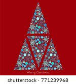 christmas background with... | Shutterstock .eps vector #771239968