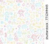 kindergarten nursery preschool... | Shutterstock .eps vector #771249445