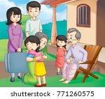 illustration of family | Shutterstock . vector #771260575