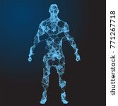 low poly wireframe human body.... | Shutterstock .eps vector #771267718