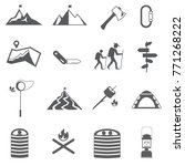 camping and hiking icons set | Shutterstock .eps vector #771268222
