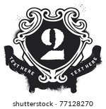 shield with banner and number... | Shutterstock .eps vector #77128270