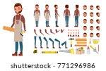 carpenter vector. animated... | Shutterstock .eps vector #771296986