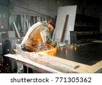 welding welding spark... | Shutterstock . vector #771305362