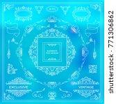 vector set of vintage elements... | Shutterstock .eps vector #771306862