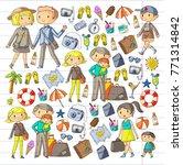 family with children travel... | Shutterstock .eps vector #771314842