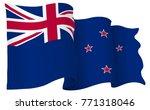 new zealand flag waving... | Shutterstock .eps vector #771318046