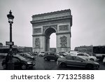 paris  france   december 8 ... | Shutterstock . vector #771325888