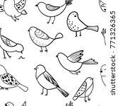 bird seamless pattern....   Shutterstock .eps vector #771326365