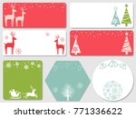 a set of assorted christmas... | Shutterstock .eps vector #771336622