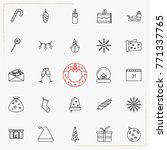 set of vector thin line icons... | Shutterstock .eps vector #771337765