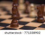 chess on chessboard close up | Shutterstock . vector #771338902