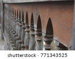 closeup beautiful wooden... | Shutterstock . vector #771343525