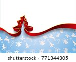 christmas tree from ribbons... | Shutterstock .eps vector #771344305