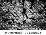grunge black and white pattern. ... | Shutterstock . vector #771350875