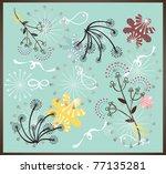 sweet garden party wallpaper | Shutterstock .eps vector #77135281