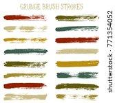 modern watercolor daubs set ... | Shutterstock .eps vector #771354052