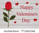 valentines card with a rose on... | Shutterstock .eps vector #771362266