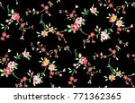 beautiful floral pattern with... | Shutterstock . vector #771362365