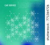 car service concept in... | Shutterstock .eps vector #771364726