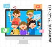 millennials illustration  group ... | Shutterstock .eps vector #771374695