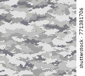 digital camouflage pattern ...   Shutterstock .eps vector #771381706