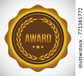award design badge vector | Shutterstock .eps vector #771381772