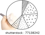 hand draws a graph isolated on...   Shutterstock . vector #77138242