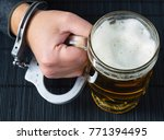 alcohol addiction. the hand in...   Shutterstock . vector #771394495