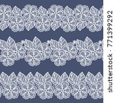 seamless lace flowers... | Shutterstock .eps vector #771399292