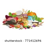 composition from natural useful ... | Shutterstock .eps vector #771412696
