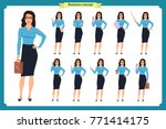 set of  businesswoman character ... | Shutterstock .eps vector #771414175