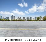 empty concrete floor and... | Shutterstock . vector #771416845