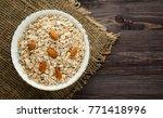 muesli with nuts. muesli on a... | Shutterstock . vector #771418996