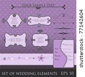 set of wedding elements  vector   Shutterstock .eps vector #77142604