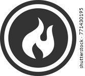 fire icon   dark circle sign...